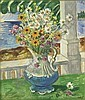 WALDO PEIRCE 1884-1970 STILL LIFE WITH FLOWERS BY THE SEA, Waldo Peirce, Click for value