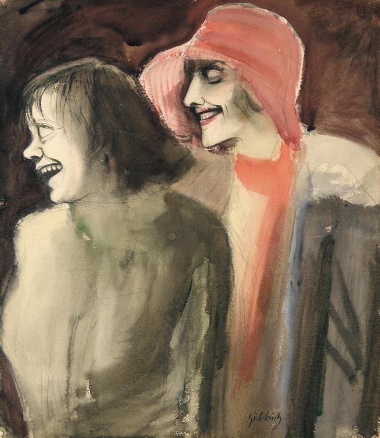 KARL HUBBUCH 1891-1979 STRASSENMÄDCHEN (STREET GIRLS)