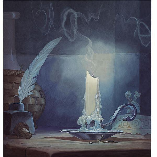 Dan Colen , b. 1979 Untitled (Blow Me)   oil on canvas