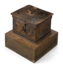 ENGRAVED HEVRA KADISHA CHARITY BOX, EARLY 20TH CENTURY |