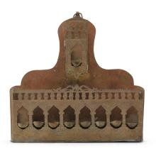 NORTH AFRICAN BRASS HANUKAH LAMP, EARLY 20TH CENTURY |