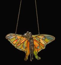 tiffany studios a rare figural lamp screen