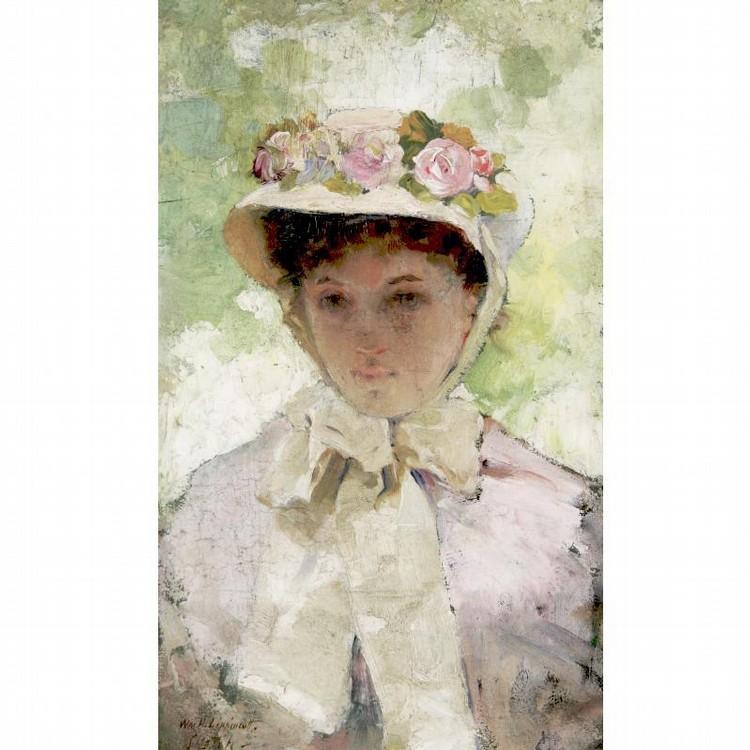 WILLIAM H. LIPPINCOTT 1849-1920 THE FLOWERED HAT
