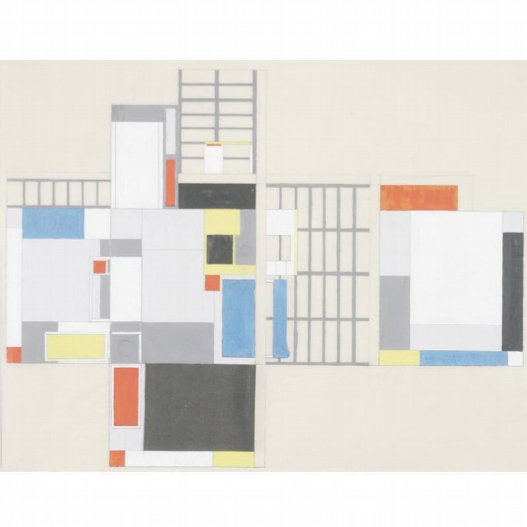 PROPERTY FROM THE ROTHSCHILD FAMILY COLLECTION MAX BURCHARTZ 1887-1961 STUDY IN SPACE VI