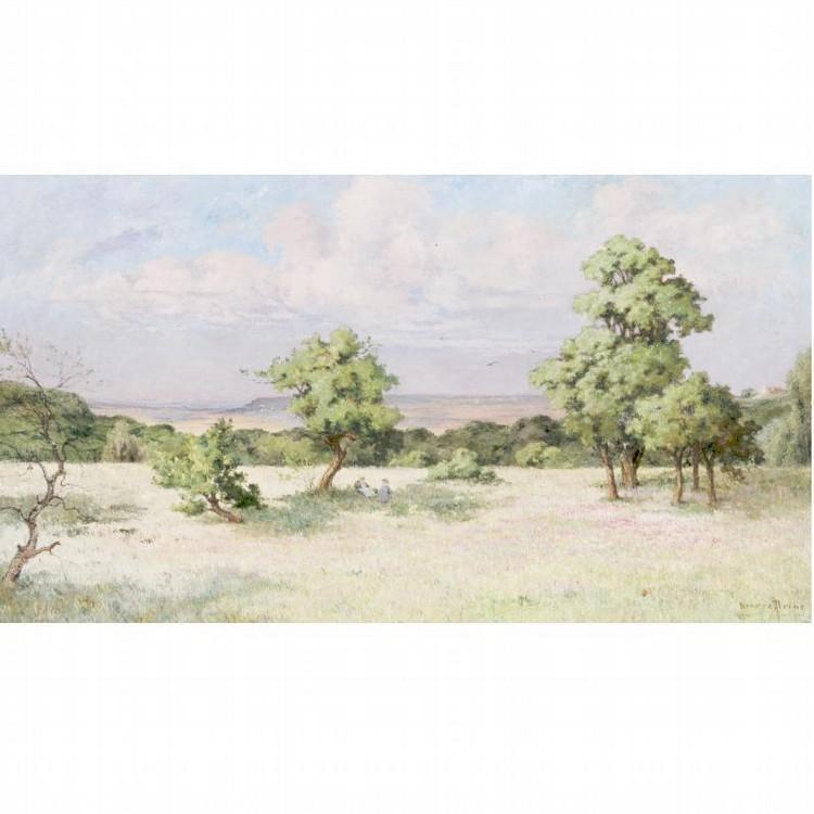 PIERRE PRINS 1838-1913 LE PLATEAU ENSOLEILLÉ, GROS-ROUVRE (S ET O)
