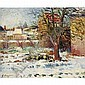 Georges Manzana Pissarro 1871-1961 , Effet de Neige, Nezel oil on canvas, Georges Pissarro, Click for value