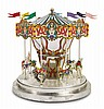 A PARCEL-GILT SILVER AND ENAMEL CAROUSEL, DESIGNED BY GENE MOORE FOR TIFFANY & CO., NEW YORK, CIRCA 1990 |