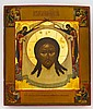 A RUSSIAN ICON OF THE MANDYLION WITH SILVER-GILT AND CLOISONNÉ ENAMEL OKLAD, YAKOV MISHUKOV, MOSCOW, 1895 |