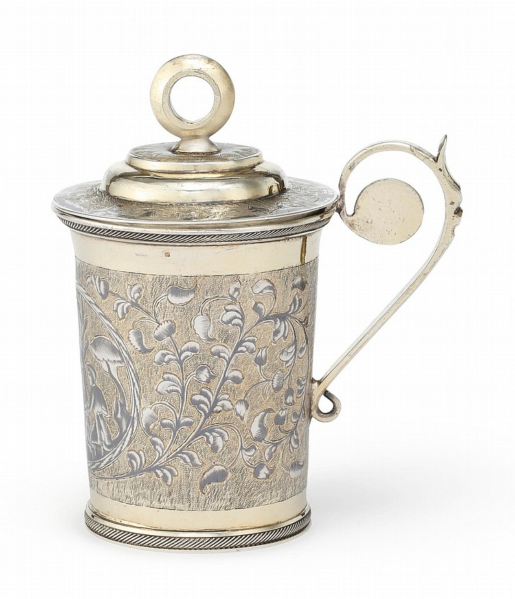 A RUSSIAN SILVER-GILT AND NIELLO COVERED CUP, MOSCOW, 1834 |