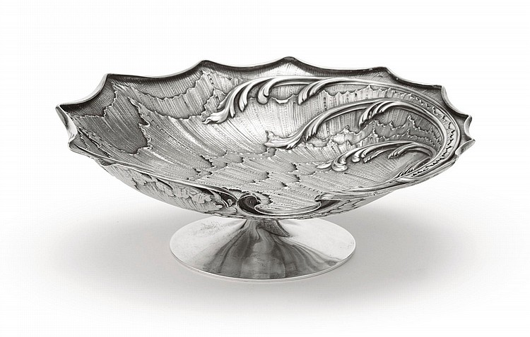 A FABERGÉ SILVER TAZZA, MOSCOW, 1894  