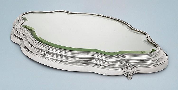 A FABERGÉ SILVER MIRROR PLATEAU, ST. PETERSBURG, 1908-17 |