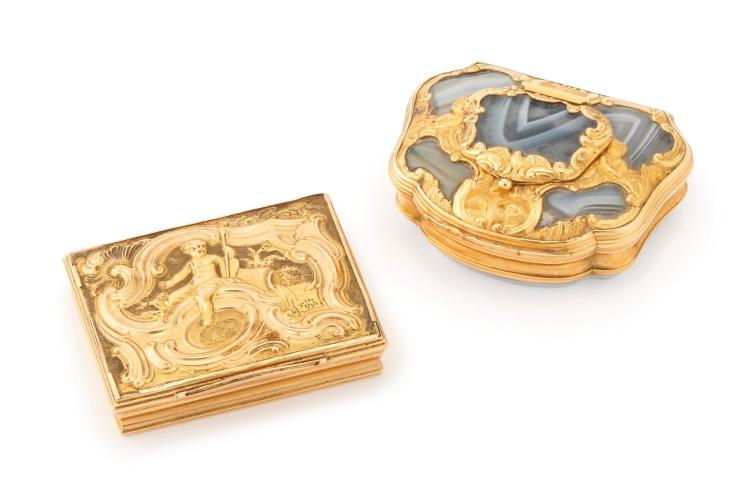 TWO ROCOCO GOLD PATCH BOXES, CIRCA 1750 |