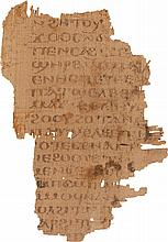FRAGMENT ON PAPYRUS OF A TEXT CITING THE GOSPEL OF ST MATTHEW, IN COPTIC. [EGYPT, CA. 550-650 AD]