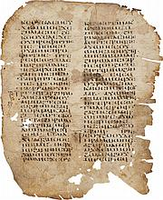 LEAF FROM THE GOSPEL OF MARK, IN COPTIC. [UPPER EGYPT, C.800-1100 AD]