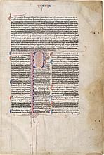 GLOSSED SAPIENTIAL BOOKS OF THE OLD TESTAMENT, IN LATIN [FRANCE (PARIS), C.1260]