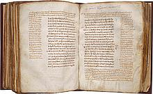 FOUR GOSPELS WITH COMMENTARY, IN GREEK. [CONSTANTINOPLE, 11TH CENTURY]