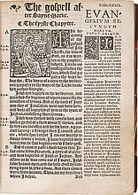 [THE NEWE TESTAMENT IN ENGLYSHE AND LATYN ACCORDYING TO THE TRANSLACYON OF DOCTOUR ERASMUS. LONDON, 1538