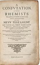 THOMAS CARTWRIGHT. A CONFUTATION OF THE RHEIMS TRANSLATION LEIDEN: BREWSTER, 1618
