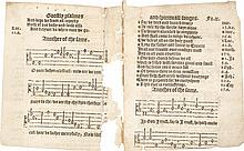 COVERDALE, MILES.THREE LEAVES FROM THE FIRST EDITION OF GOOSTLY PSALMES AND SPIRITUALL SONGES. [LONDON,CA. 1535])