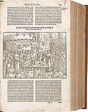 FOXE, JOHN. ACTES AND MONUMENTS OF THESE LATTER AND PERILOUS DAYEST. LONDON: JOHN DAY, [(20 MARCH) 1563]