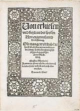 ZWINGLI, ULRICH. VON ERKIESEN UND FREYHAIT DER SPEISEN.  [AUGSBURG: HEINRICH STEINER, 1522]