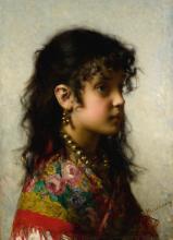 ALEXEI ALEXEEVICH HARLAMOFF | Girl with Brass Necklace