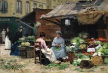VICTOR GABRIEL GILBERT | Jeunes femmes aux marché