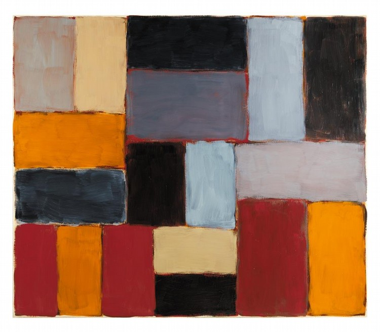 f - SEAN SCULLY B. 1946 WALL OF LIGHT, TEMOZON