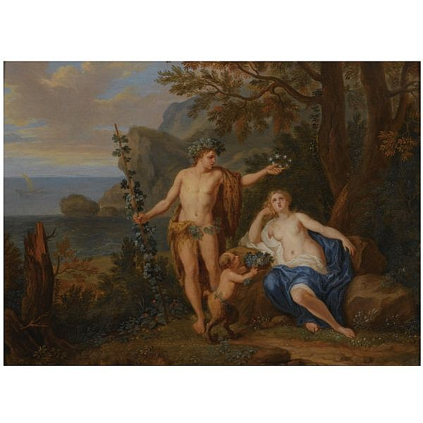Victor Honoré Janssens Brussels 1658 - 1736 , Bacchus and ariadne oil on panel