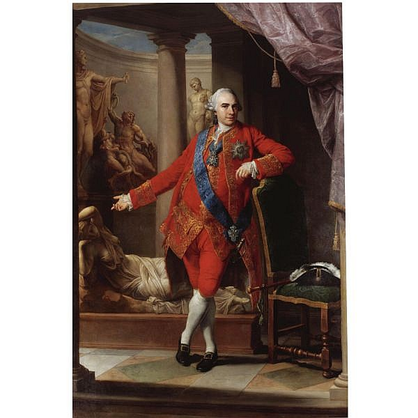 - Pompeo Girolamo Batoni , Lucca 1708 - 1787 Rome Portrait of Count Kirill Grigorjewitsch Razumovsky (1728-1803), full-length, in a scarlet suit, wearing the star, sash and badge of the Order of Saint Andrew and on his breast the Polish Order of the