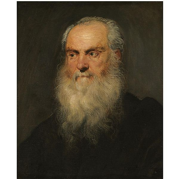 - Jacopo Robusti, called Jacopo Tintoretto , Venice 1518 - 1594 Portrait of a an elderly bearded man, head and shoulders oil on canvas