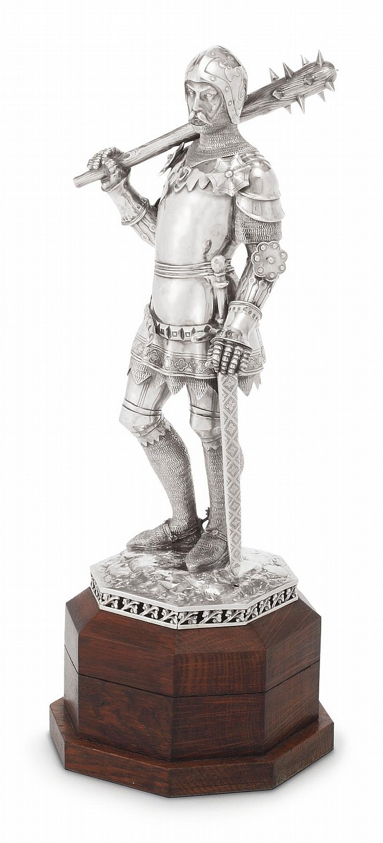 A GERMAN SILVER KNIGHT, LOUIS WERNER, BERLIN, CIRCA 1900 |