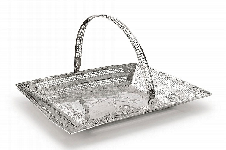 A SPANISH COLONIAL SILVER BASKET, PROBABLY GUATEMALA, CIRCA 1800 |