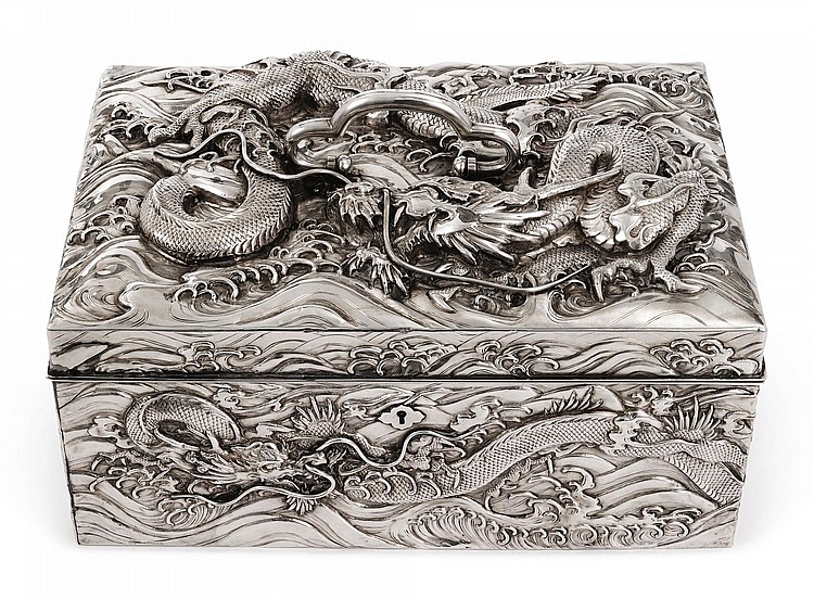 A JAPANESE EXPORT SILVER LARGE