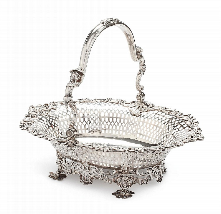 A GEORGE II SILVER CHINOISERIE BREAD BASKET, SAMUEL HERBERT & CO., LONDON, 1756 |