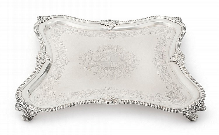 A GEORGE III SILVER SALVER, ROBERT GARRARD I, LONDON, 1803 |