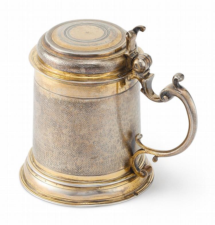 A GERMAN SILVER-GILT SMALL TANKARD, JOHANN CHRISTOPH TREFFLER I, AUGSBURG, 1709-12 |