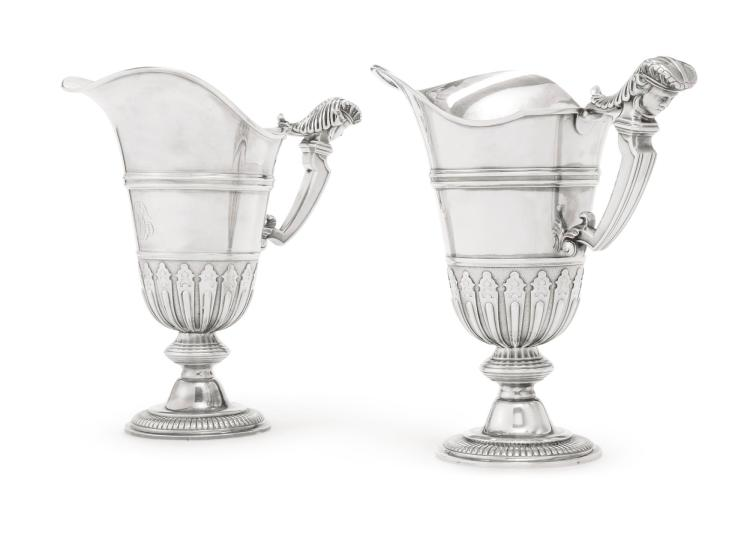 A PAIR OF FRENCH SILVER LOUIS XIV STYLE EWERS, TÉTARD FRÈRES, PARIS, EARLY 20TH CENTURY |