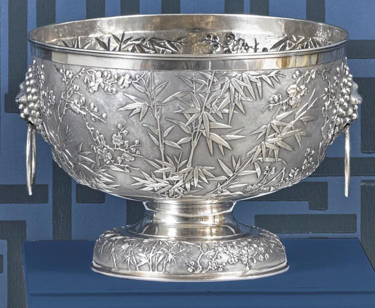 A CHINESE EXPORT SILVER PRESENTATION BOWL, TUCK CHANG & CO., SHANGHAI, DATED 1910 |