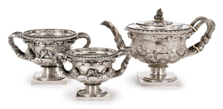 A REGENCY SILVER THREE-PIECE