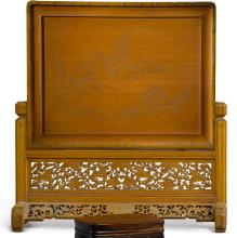 A BAMBOO TABLE SCREEN<BR> 20TH CENTURY |
