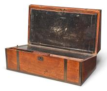 A 'HUANGHUALI' TRAVELING DESK <BR> LATE QING DYNASTY |