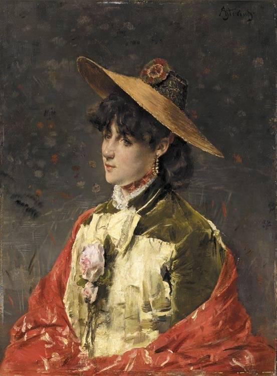ALFRED STEVENS BELGIAN, 1823-1906