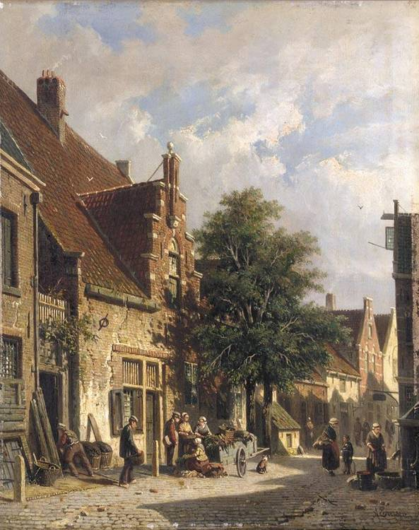 f - ADRIANUS EVERSEN DUTCH, 1818-1897