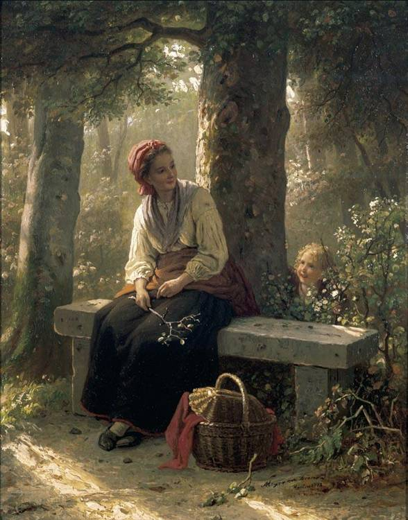 f - JOHANN GEORG MEYER VON BREMEN GERMAN, 1813-1886
