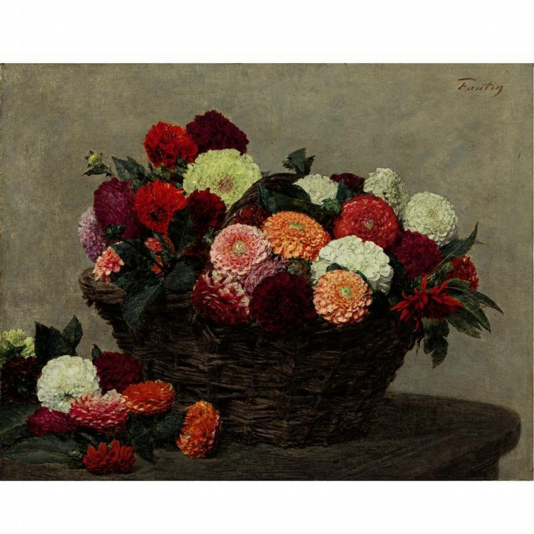 PROPERTY FROM A DALLAS PRIVATE COLLECTION HENRI FANTIN-LATOUR 1836-1904 PANIER DE DAHLIAS