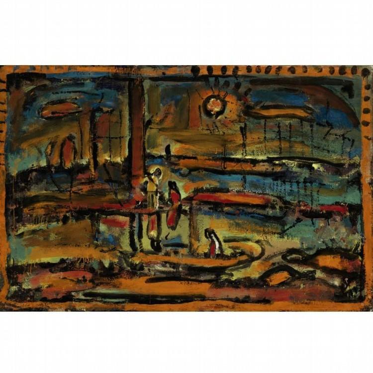 GEORGES ROUAULT 1871-1958 SOLEIL COUCHANT