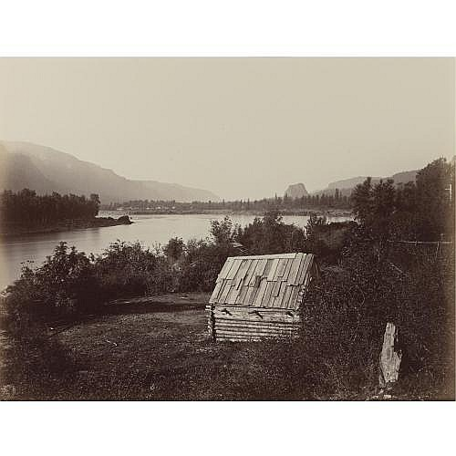 Carleton E. Watkins 1829-1916 , 'the garrison, columbia river'