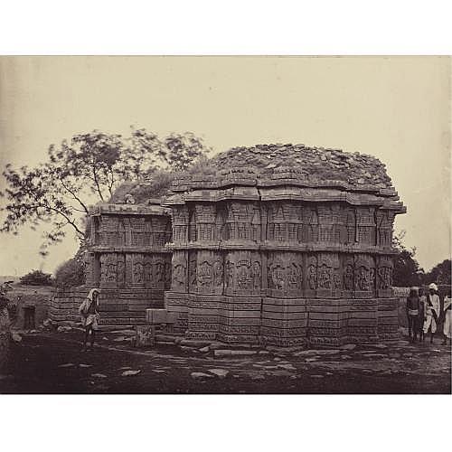 Henry Dixon 1820-1893 , 'temple at naglapur, kadub taluk'