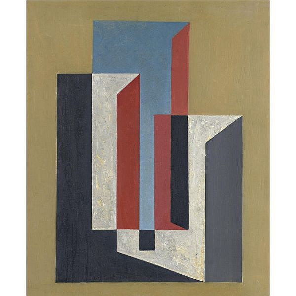 Charles Green Shaw 1892-1974 , Plastic Polygon oil on canvas